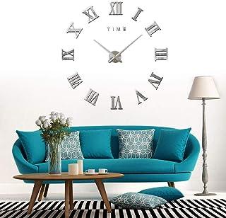 CoZroom 3D DIY Wall Clock Silver