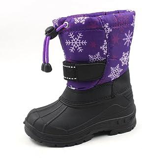 SkaDoo Kids Cold Weather Snow Boots,Navy//Black,6 1319