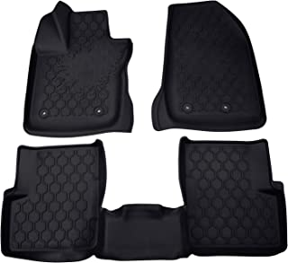 TURBO SII Custom Fit Floor Mats Heavy Duty Rubber Floor Mats Fits Jeep Renegade 2016 2017 2018 - 3 Piece (Front, Rear, Full Set Liners) - coolthings.us
