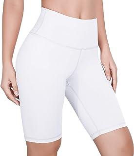 CzDolay Yoga Short Womens High Waist Workout Tummy Control Short Leggings with Side Pocket XS-XXL