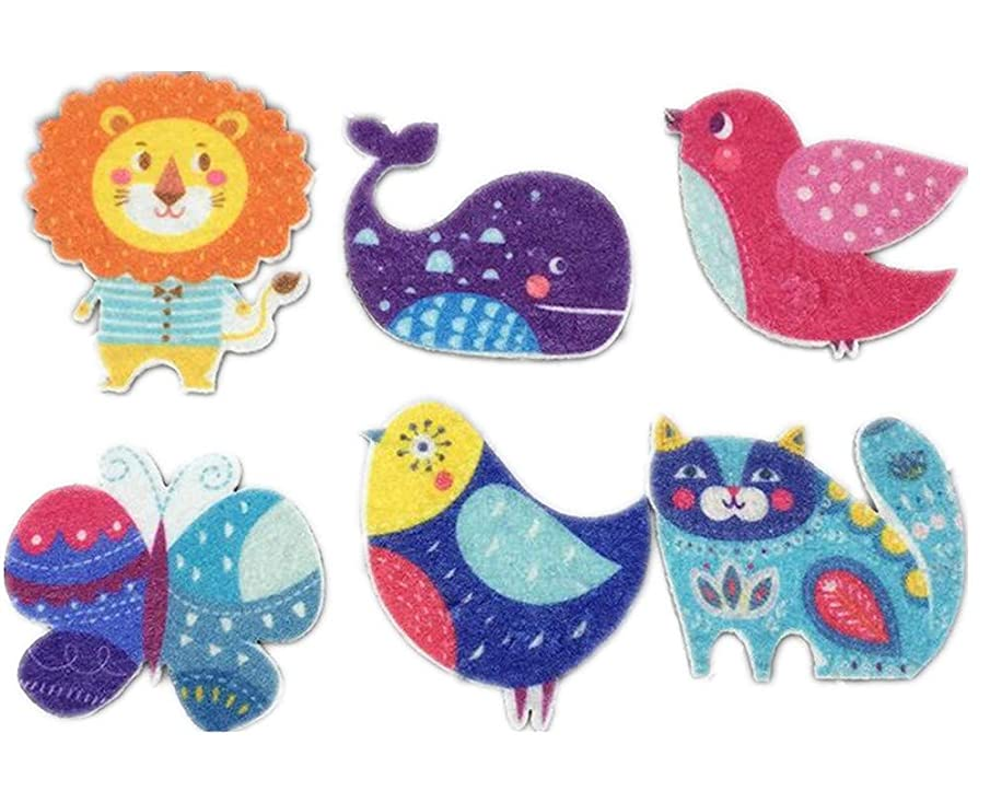 Veronica Key Cute Cartoon Animal Handmade DIY Sewing Accessories for Party Decor Backpack Hairpin T-Shirt Jeans Brooch Coin Purse Garment (Pack of 20)