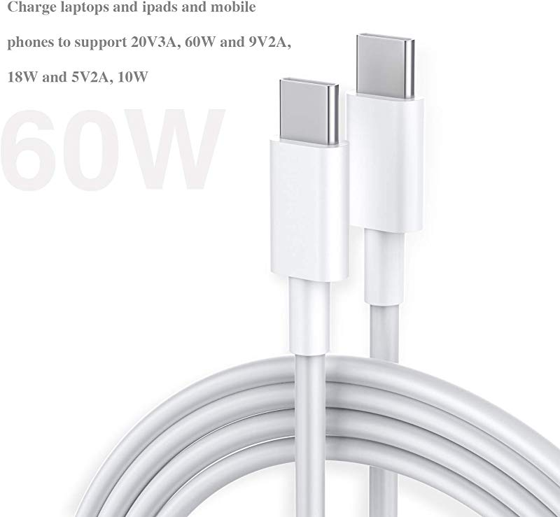 C To C Cable Type C To Type C Cable 2 0 6 6ft 9 9ft 2pack Compatible With All Brand C Interface Devices Supports PD Fast Charging And 60W 20V 3A 18W 9V 2A 10W 5V 2A