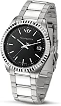 Philip Men's Caribbean Analogue Watch R8253107225 with Quartz Movement, Black Dial and Stainless Steel Case