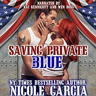 Saving Private Blue audiobook cover art