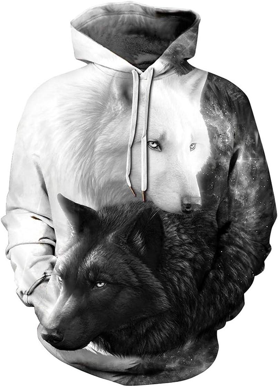 Pandolah Special Campaign Men's Fashion Novelty Sweatshirts Printed New arrival Hoo Animal 3D