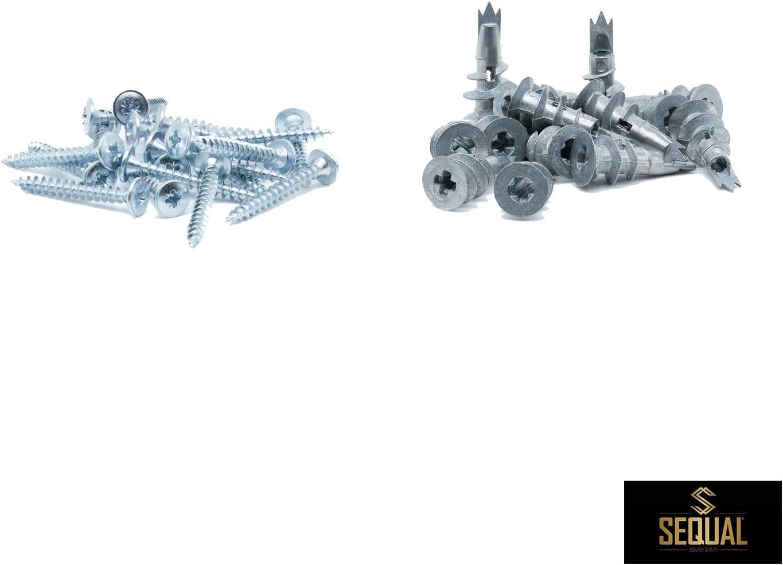 Gipskarton-Befestigungen SEQUAL/® Gipskarton-Befestigungen und Schrauben aus Metall selbstbohrend