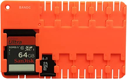 Bandc 2pcs Red Micro Sd/sdhc/sdxc Card Storage Holder Case (Memory Card Not Included)