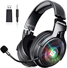 BENGOO 2.4G Wireless Gaming Headset Headphones with Microphone for PS4 PS5 PC, 3.5mm Wired for Xbox One, Noise Cancelling ...