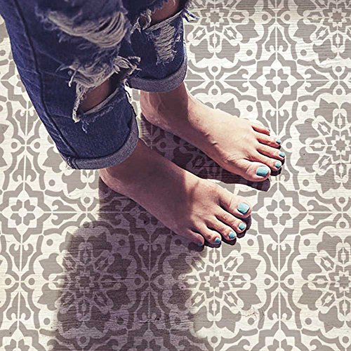 Amalfi Tile Stencil - Cement Tile Stencils - DIY Portuguese Tiles - Reusable Stencils for Home Makeover (Large)