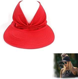 Hengyuan Chapeau de Soleil supérieur Creux élastique Anti-Ultraviolet, Chapeau de Plage de Pare-Soleil Solide d'été pour F...