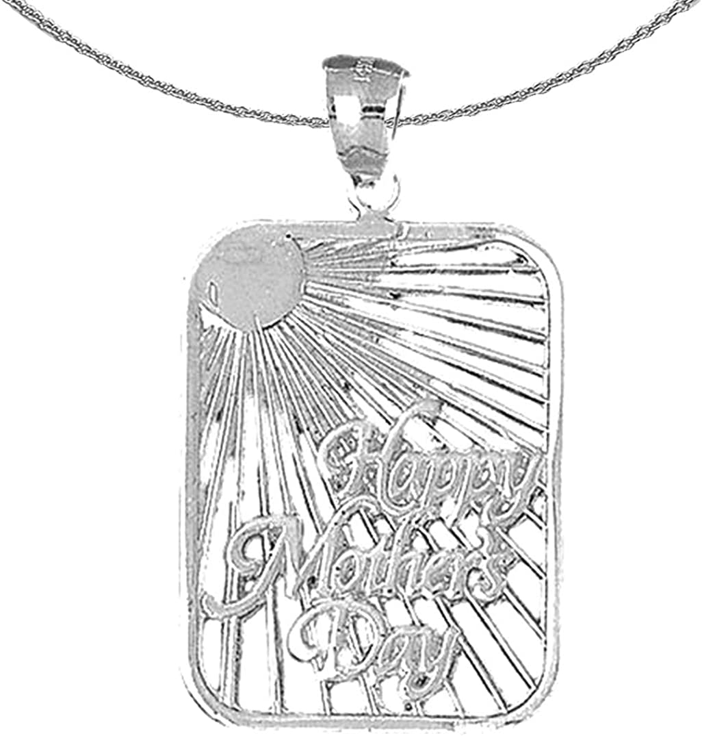 Jewels Obsession Gorgeous Silver Happy Day Mothers Columbus Mall Rhodium-pla Necklace