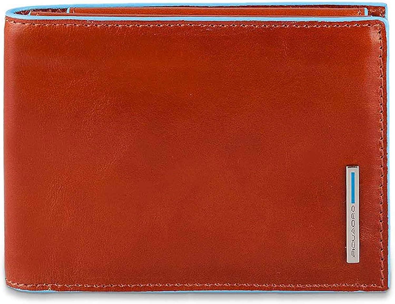 Piquadro Blau Square Herrenbrieftaschen mit Klapp-Ausweisfenster, Münz- und Krotitkartenfach Krotitkartenfach Krotitkartenfach - PU1392B2 (Orange) B07J1VGTYS 8066a2