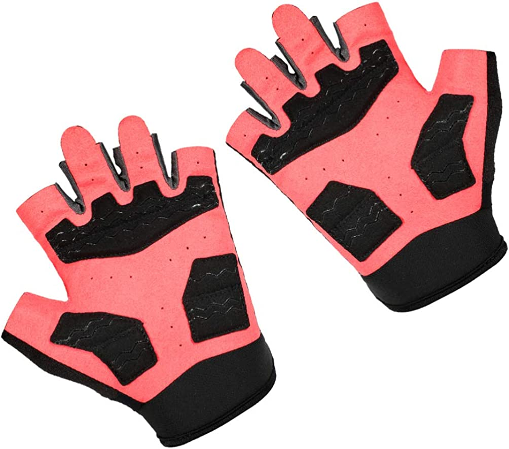 Abaodam 1 Pair of Mountain Road Bike Gloves Half Finger Breathable Cycling Gloves