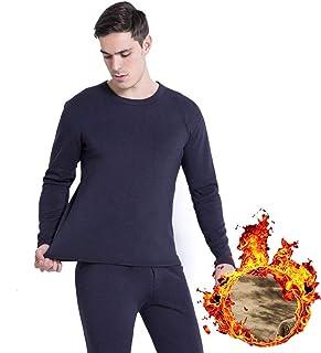 Yamyannie-Clothing Mens Thermal Underwear Set Base Layer Top & Bottom Plus Size S-XXXL (Color : Blue, Size : XXXL)