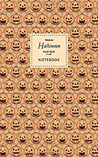 Halloween Notebook - Ruled Pages - 5x8 - Premium: (Muddy Edition) Fun Halloween Jack o Lantern notebook 96 ruled/lined pag...