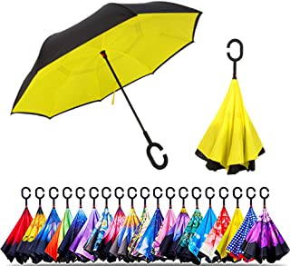 Sponsored Ad - Original Deals Inverted Inside Out Umbrella | Double Layer Inverted UV Protection Unique Windproof Umbrella...
