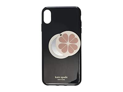 Kate Spade New York Flower Swivel Mirror Phone Case for iPhone XS Max (Black Multi) Cell Phone Case