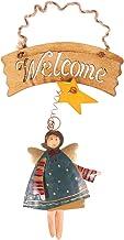 Holibanna Navidad Cartel de Madera Placa ángel Colgando Adorno Puerta de Entrada Cartel de Bienvenida para decoración de Vacaciones hogar Colgante (Verde)