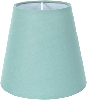 PIXNOR Linen Lamp Shade Barrel Fabric Shallow Drum Hardback Lampshade for Table Lamp and Floor Light Restaurant Hotel Bedroom