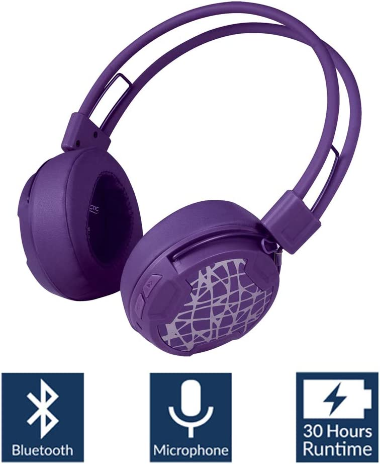 Arctic P604 Wireless (Purple), Dynamic Bluetooth 4.0 Headphones, On-Ear Design with Smart Control and Integrated Microphone, 30 Hours Battery Life