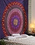 Tapiz Hippie - Tapices Grande Colgar en la Pared Mandala Bohemio Wall Hanging Tapestry - Azul - 228 x 213 cm