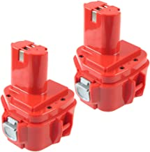 2X Powayup 12V 3,0 Ah Vervanging voor Makita-accu 1222 Ni-Mh gereedschapsaccu reserveaccu 1220 1222 PA12 1233S 1234 1233 1...