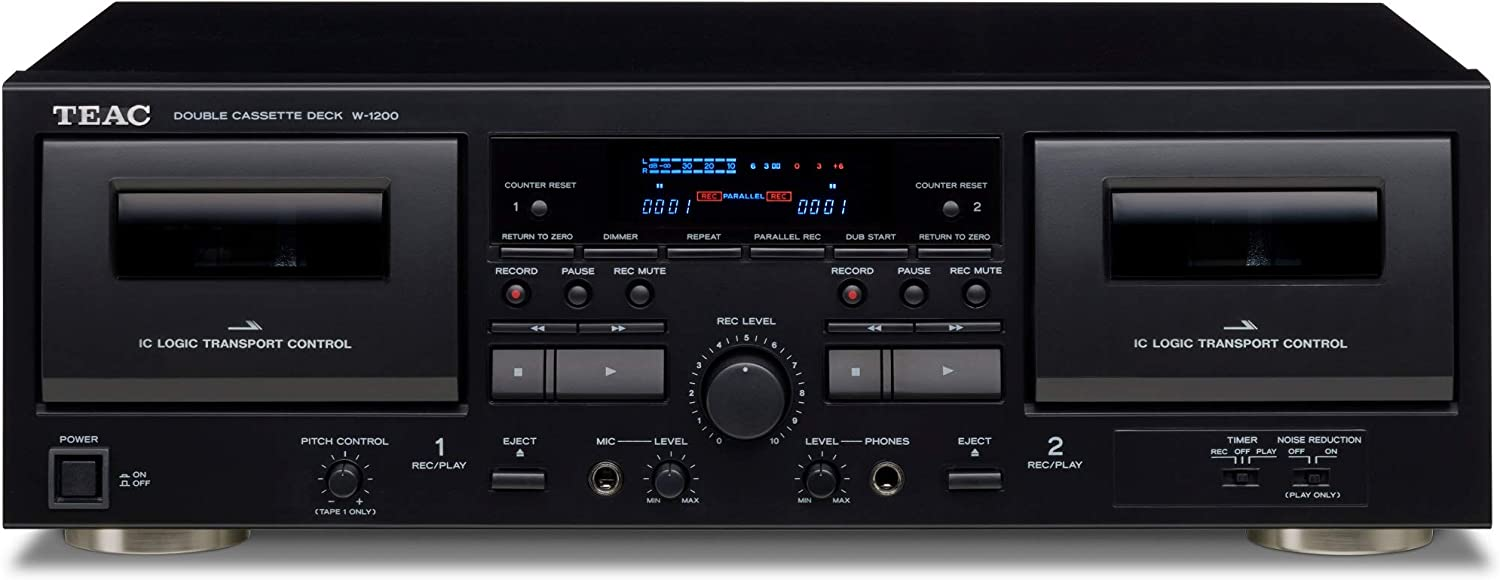 Teac Inventory cleanup selling New Free Shipping sale W-1200 Dual Cassette Deck Recorder USB Karaok Pitch with