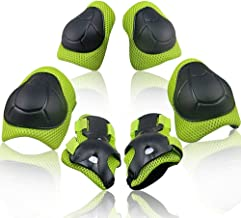 Wemfg Kids Protective Gear Set Knee Pads for Kids 2-8 Years Toddler Knee and Elbow Pads with Wrist Guards 3 in 1 for Skating Cycling Bike Rollerblading Scooter