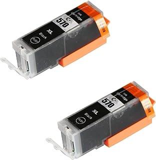 2 SCHWARZ Druckerpatronen für Canon Pixma MG5750 MG5751 MG6850 MG6851 MG7750 TS5050 TS6050 MG5752 MG5753 MG6852 MG6853 TS5051 TS5053 TS6051 TS6052 | kompatibel zu PGI 570PGBK XL