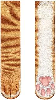 Animal Paws Socks-Novelty Animal Socks Crazy 3D Cat Dog Tiger Paw Crew Socks Funny Gift for Men Women