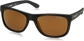 Arnette Men's AN4206 Fire Drill Lite Square Sunglasses, Matte Gold & Black/Brown Mirror Bronze, 57 mm