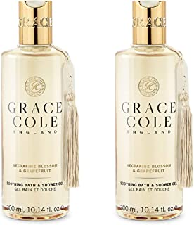 Grace Cole Nectarine Blossom & Grapefruit Bath & Shower Gel 2 x 300ml