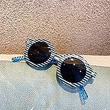 N/ A Occhiali da Sole A Righe Rotondi per Bambini Occhiali per Bambini Occhialida Sole per Bambino per Bambina