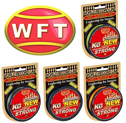 WFT KG STRONG 300m 0,25mm 39kg, geflochtene Schnur, Meeresschnur, Angelschnur, Geflechtschnur, Farbe:Grün
