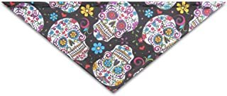 OLOSARO Dog Bandana Tela Calaveras Triangle Bibs Scarf Accessories for Dogs Cats Pets Animals