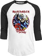 Iron Maiden Vintage Killers 30/1 Heather Men's Raglan Baseball Jerseys T Shirts