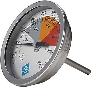 moregirl Termometro per affumicatore per Barbecue Indicatore di Temperatura analogico per griglia a Carbone 50-550 F.