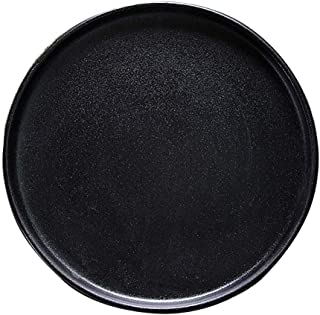 Bakeware Coarse Glaze Anti-scratch Round Baking Tray (one For Each Size) 2 Pieces Black Frosted Ceramic Steak Sushi Tray A...