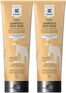 Grab Green 99% Natural Baby Shampoo & Body Wash, Dreamy Rosewood Fragrance—with Essential Oils, 10 fl oz (2-Pack), Plant-Based & Biodegradable, Daily Wash for Hair & Body