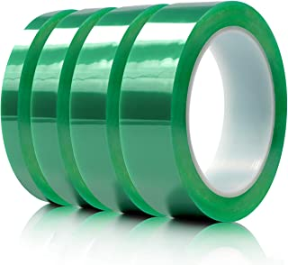 Hxtape Multi Size Choices Polyester High Temperature Green Powder Coating Masking PET Tape, Ideal to Painting, Anodizing Applications,1/4 inch, 1/2 inch, 3/4