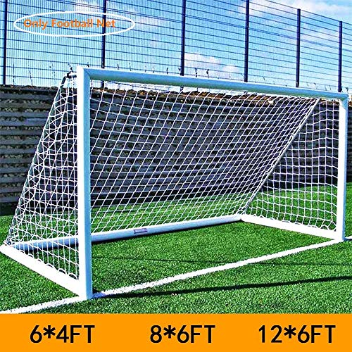 Football Net, Heavy Duty Weatherproof Football Goal Replacement Nets for Outdoor Sports Soccer Training (12 * 6FT)