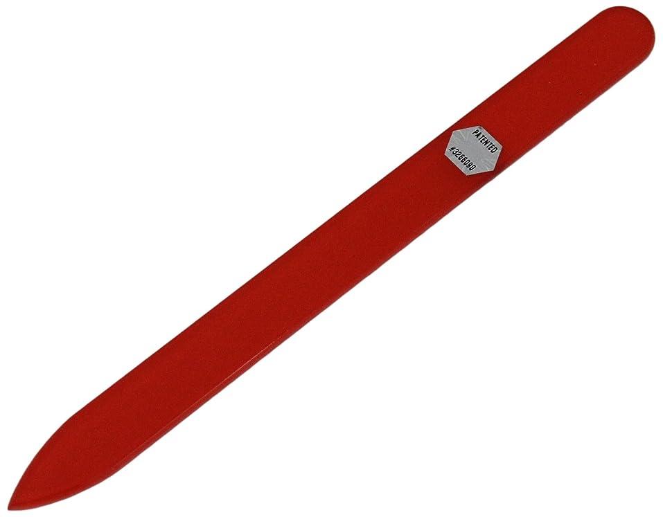 服を片付ける名前を作る露骨なブラジェク ガラス爪やすり 140mm 片面タイプ オールカラー オレンジ B-02