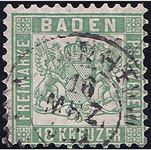 Goldhahn Baden Nr. 21a gestempelt geprüft Briefmarken für Sammler
