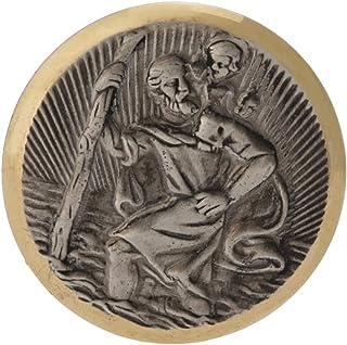Cartrend 60152 St. Christophorus plaquet, fijn verzilverd met filigraan diamant geslepen