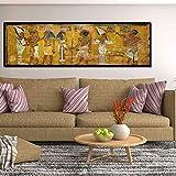 Aceite Estampados Retro Egipto Reina Cleopatra Lona Impresiones De Alta Definición Pintura Egipcia Antigua Imagen De Habitaciones Mural De La Pared De Cabecera Del Arte Decoración No Frame