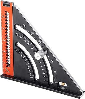 6 اینچ تاشو مثلث خط کش نجار سرعت طرح مربع ابزار دقیق گونیومتر اندازه گیری چند زاویه آلومینیوم آلومینیوم چند منظوره ابزار نجاری