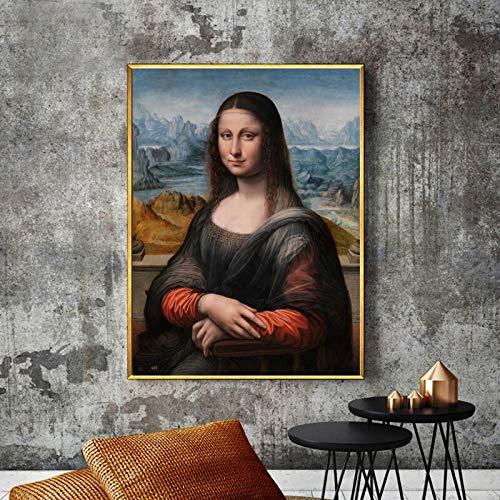wZUN Pintura Famosa Carteles e Impresiones Arte Mural Lienzo Pintura Retrato Imagen Sala de Estar decoración Pintura 50x70 cm