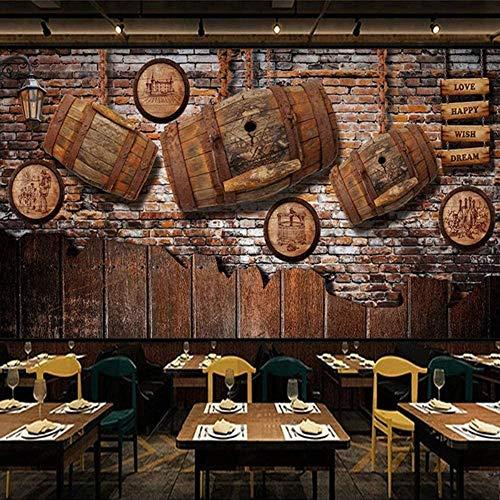 JINHECH fototapete Vintage nostalgisches Weinfass 200x140 cm Selbstklebend Tapeten Wandtapete Moderne Wanddeko Design Wohnzimmer Schlafzimmer Büro Flur Wand Dekoration