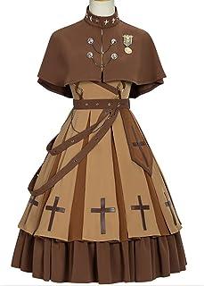 YLF - Vestido de estilo militar Steampunk Lolita Cool Army Uniforme (color: juego completo, tamaño: M)