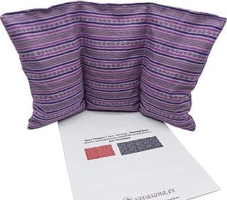"""Cuscino termico noccioli ciliegia """"Strisce lilla"""" - 26 x 16 cm (M / L) - pieno di noccioli di ciliegia 330gr - effetto fre..."""